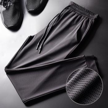 夏季冰丝男士运动宽松空调裤休闲裤