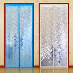 空调门帘防冷气磁吸厨房油烟家用对吸挡风隔断塑料透明自吸磁铁