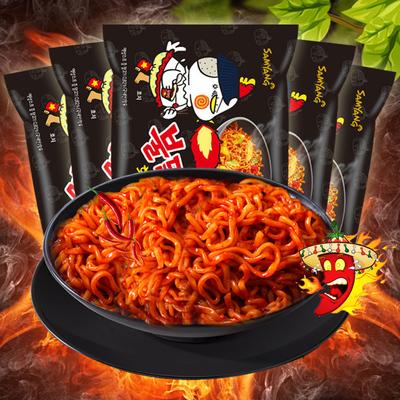 韩国进口三养火鸡面干拌面140gX5袋火辣甜辣速食方便面拉面辣鸡面
