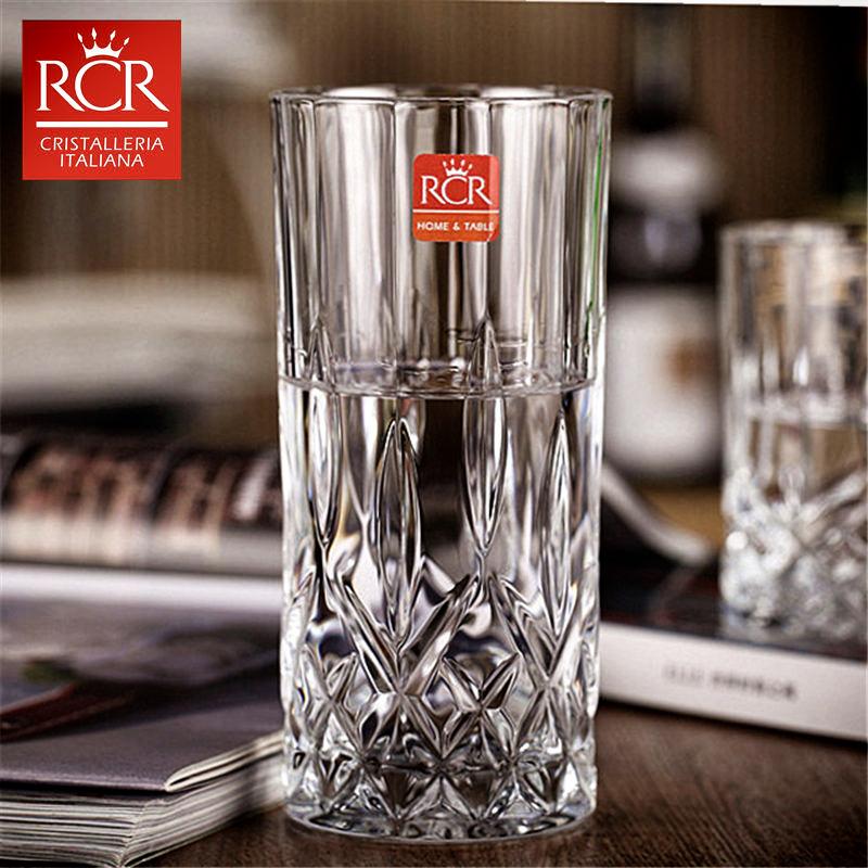 意大利进口RCR无铅水晶玻璃欧式杯家用长饮水杯茶杯啤酒杯果汁杯