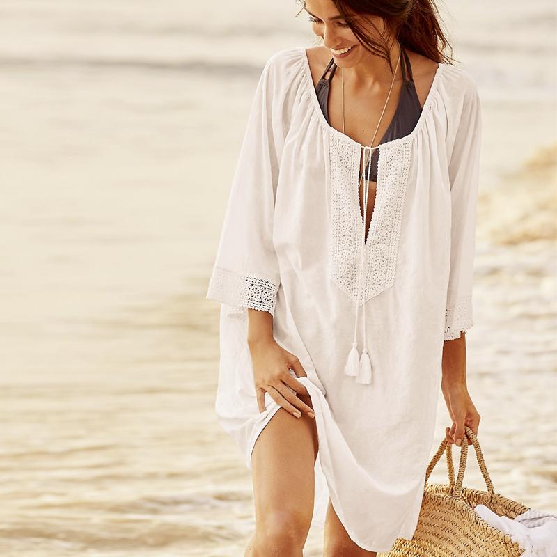 新款 度假防晒衣沙滩衣沙滩裙海边短裙 比基尼罩衫泳衣外搭裹裙