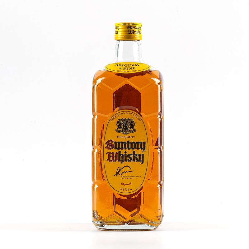 日本进口洋酒 40度三得利角瓶调配型