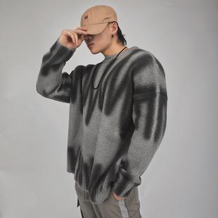 冬季长款大肌肉针织衫外套毛衣男宽松健身服长袖运动卫衣健身毛衣