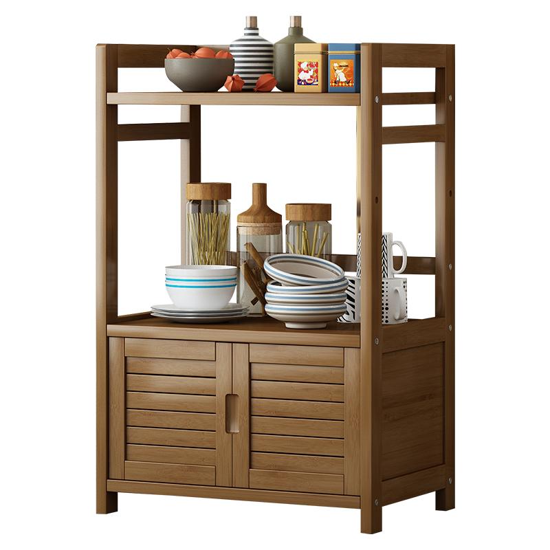 餐厅家用客厅收纳实木简易置物架评测参考
