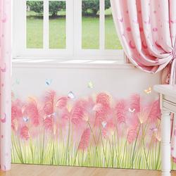 墙角线踢脚线地脚线墙贴纸自粘客厅卧室贴画墙装饰粉色少女心ins