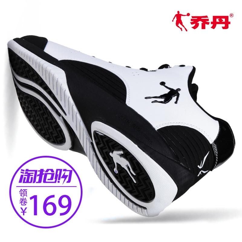 乔丹低帮篮球鞋正品冬款简约黑白色男运动鞋学生专业比赛球鞋战靴