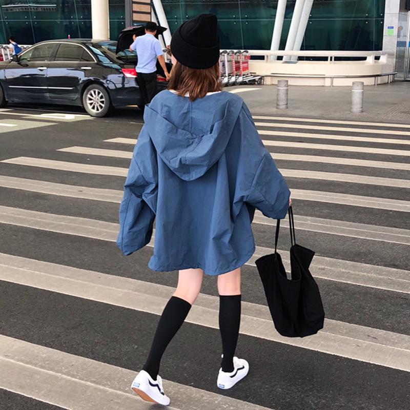 可可里小姐店铺帅气秋装外套上衣韩版连帽夹克风衣霸气酷酷的女装