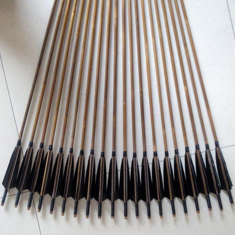 传统弓箭反曲复合美猎直拉弓射击 射箭比赛弓 箭支木箭竹箭玻纤箭
