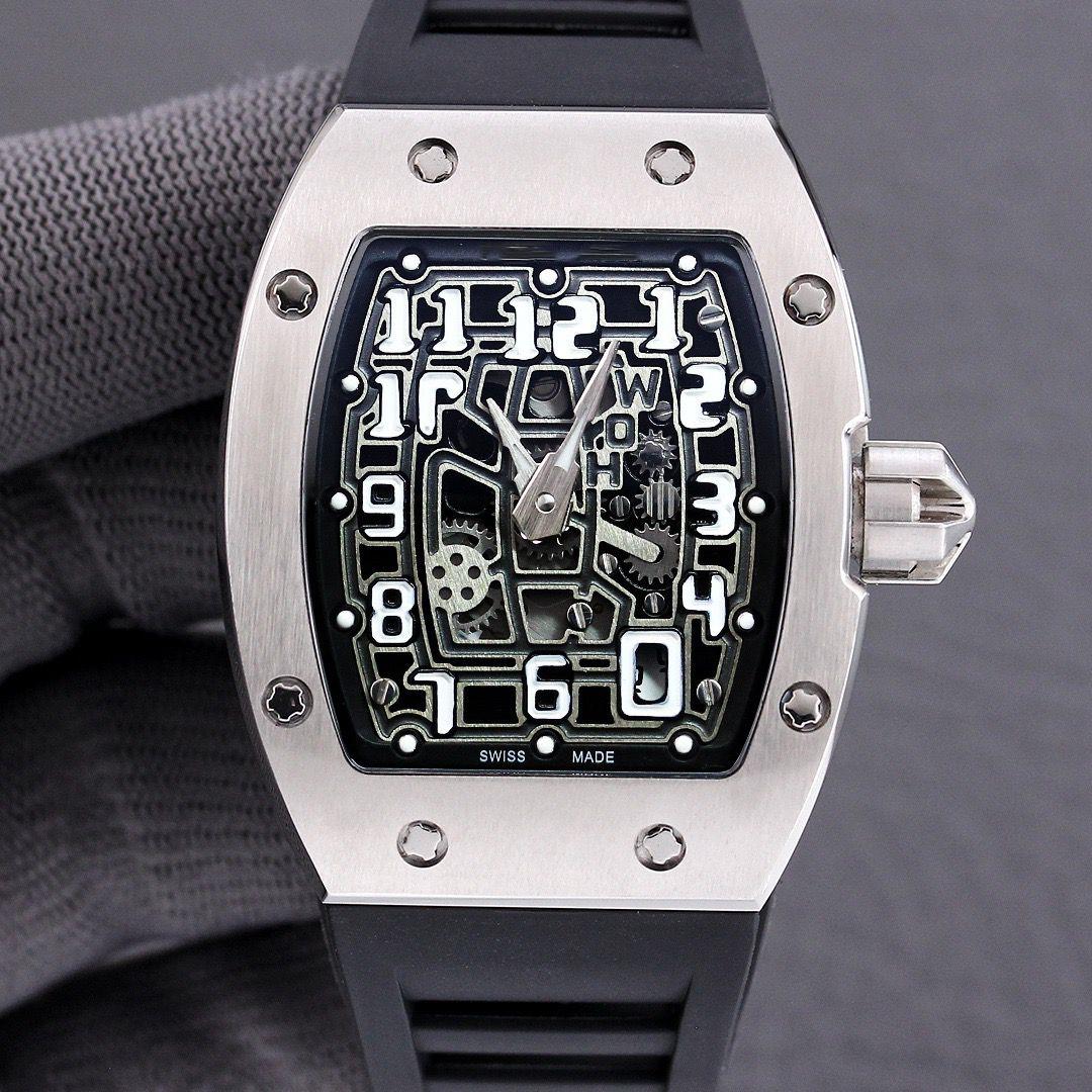 休闲运动理查德RM67-01全自动机械精钢表壳米勒镂空胶带手表男士
