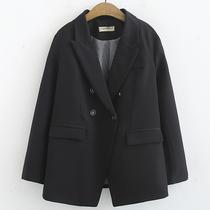 加肥加大码女装21秋季新款韩版显瘦胖mm中长款长袖西装外套200斤