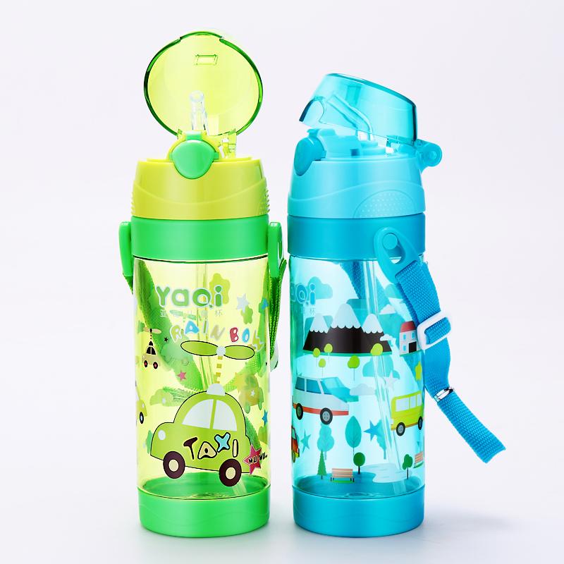 兒童水杯吸管杯背帶便攜防漏水壺寶寶喝水杯子嬰兒學飲杯學生水瓶