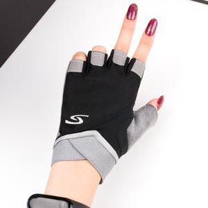 運動健身手套女防滑半指護手腕男器械訓練瑜伽鍛煉動感單車防起繭
