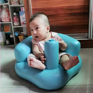 婴儿童充气小沙发座椅幼儿学坐便携式餐椅浴凳可折叠防摔洗澡训练