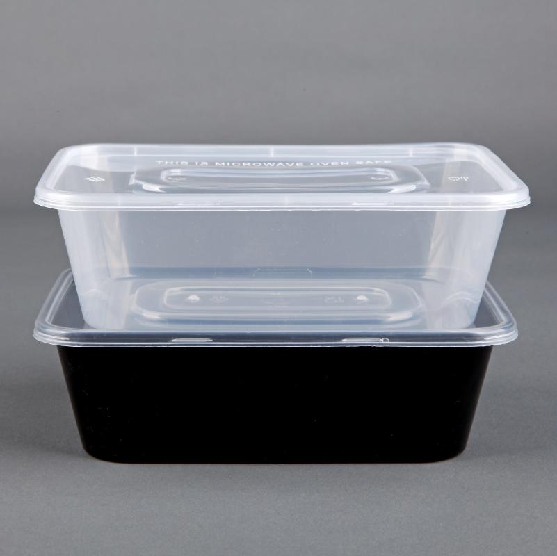 加厚長方形650ml一次性餐盒塑料透明外賣打包盒快餐保鮮盒300套