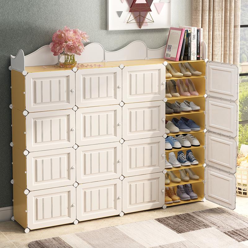 鞋柜简易家用门口大容量经济型简约阳台收纳玄关多层鞋架子储物柜