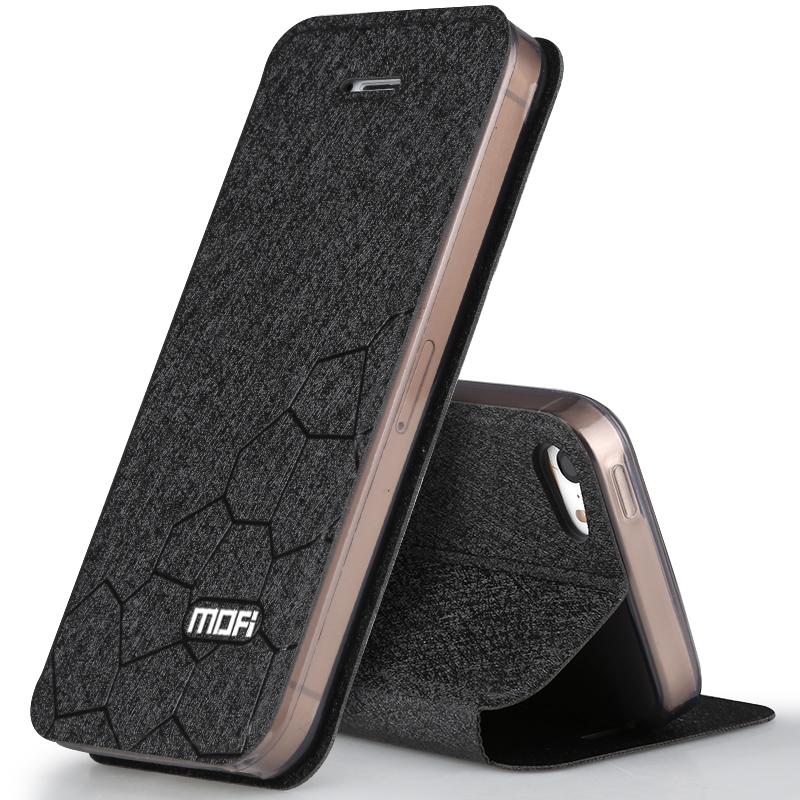 莫凡 蘋果5S SE手機殼翻蓋皮套矽膠全包保護防摔簡約男女iPhone五