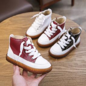 2019秋冬季韩版儿童加绒休闲鞋