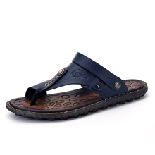 New leather sandals for men wearing beach shoes for men sandals for men outdoor double-purpose flip-flops for men in summer