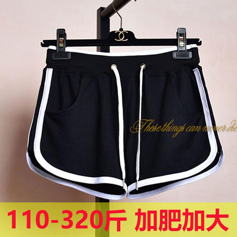 300斤超大码女装夏季280胖人加肥加大240高腰弹力休闲运动短裤250