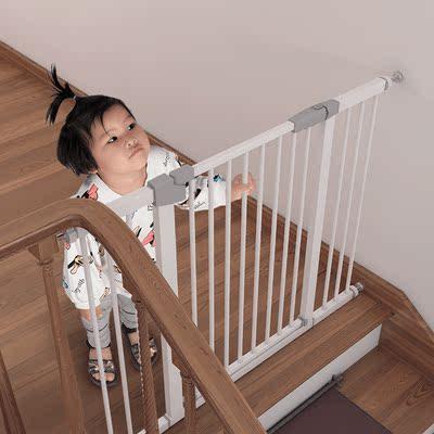 婴儿楼梯口护栏儿童安全门围栏免打孔栅栏防护栏杆宠物狗隔离门栏