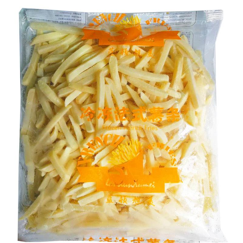 蓝顿旭美粗薯条/薯角/圆薯饼2kg/袋装冷冻西式油炸半成品小吃速食