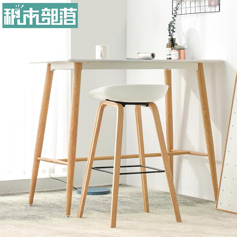 积木部落铁艺吧台桌靠墙窄桌子北欧酒吧桌椅组合家用吧桌高脚桌