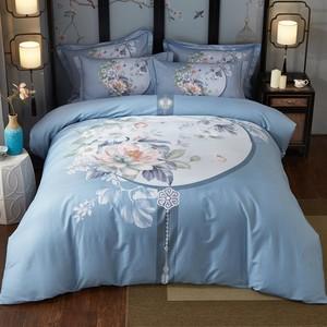 新中式四件套全棉纯棉床单被套床笠三件套床品套件1.8m床上用品