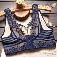 Vest-style gathered small chest bra on the support sexy large size beauty back women's underwear adjustable type steel ring bra