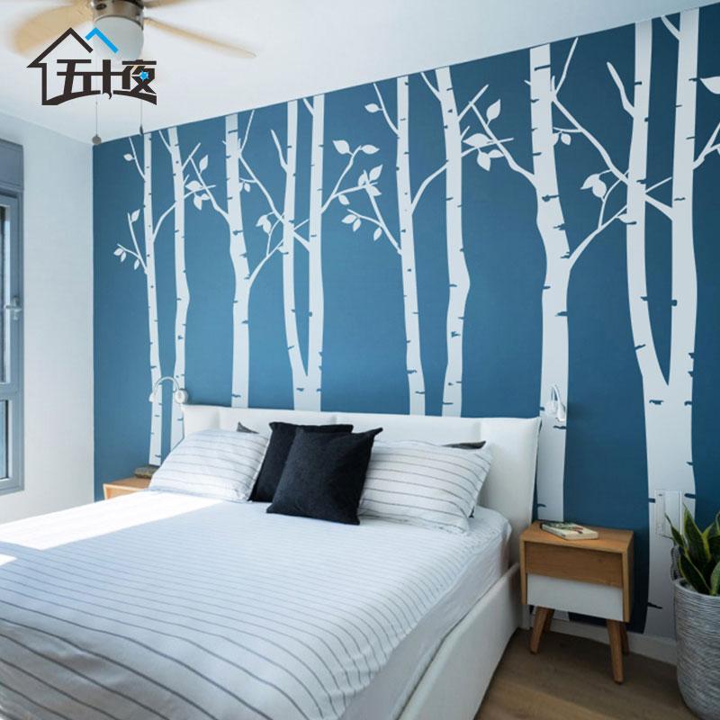 时尚简约大树沙发电视背景墙纸贴画大型卧室墙贴 客厅装饰贴纸画