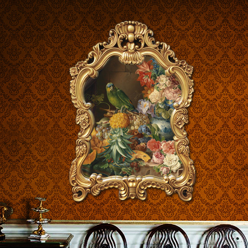 壁掛畫噴繪仿真油畫歐式法式復古花卉裝飾畫客廳餐廳玄關掛畫藝術