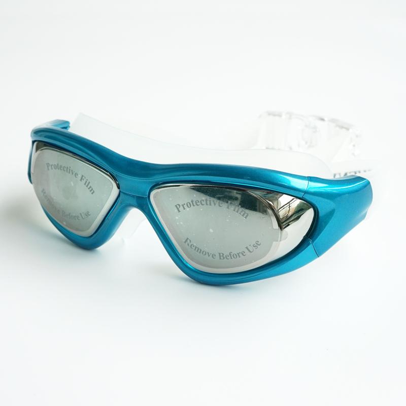 申裕成人电镀大框防水防雾游泳眼镜(非品牌)