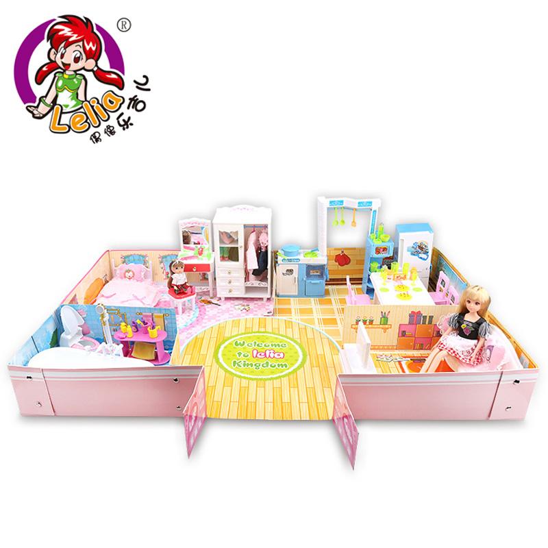 樂吉兒夢幻別墅房子巴比娃娃玩具屋套裝大 過家家公主女孩兒童