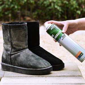反绒面鞋粉翻毛皮鞋清洁护理剂打理液麂皮磨砂鞋油补色喷雾黑鞋水