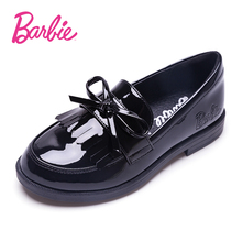 Barbie Children's Shoes 2019 New Princess, Foreign Style, English Wind Leather Shoes, Soft sole, Black Children's Single Shoes, Spring and Autumn