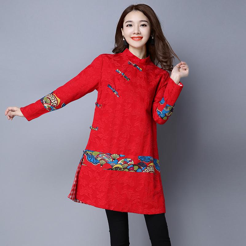 改良唐装女复古风上衣旗袍中式棉麻盘扣女装中国风民族外套秋冬
