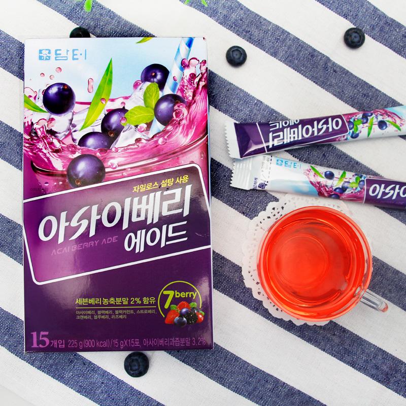 韓國 丹特阿薩伊漿果冷飲粉藍莓汁蔓越莓汁覆盆子汁225g