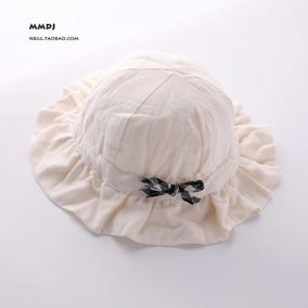 春秋季纯棉渔夫帽三个月婴儿帽子