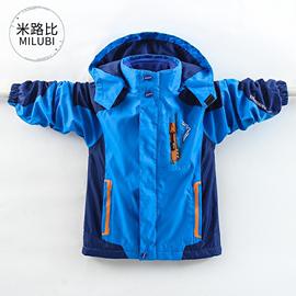 。男童冲锋衣加绒加厚可拆卸合一儿童2020秋软壳洋气外套12-15图片