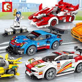 匹配乐高男孩拼装小颗粒汽车玩具