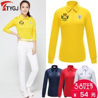TTYGJ весна сезон гольф одежда мисс длинный рукав t футболки POLO рубашка тонкий вышивка движение униформа куртка