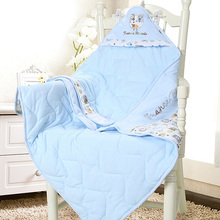 New-born cotton-coated infants with thin blankets in spring, autumn, winter and summer