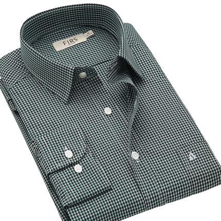 【断码特价】杉杉男士长袖全棉衬衫中青年免烫专柜正品衬衣特价