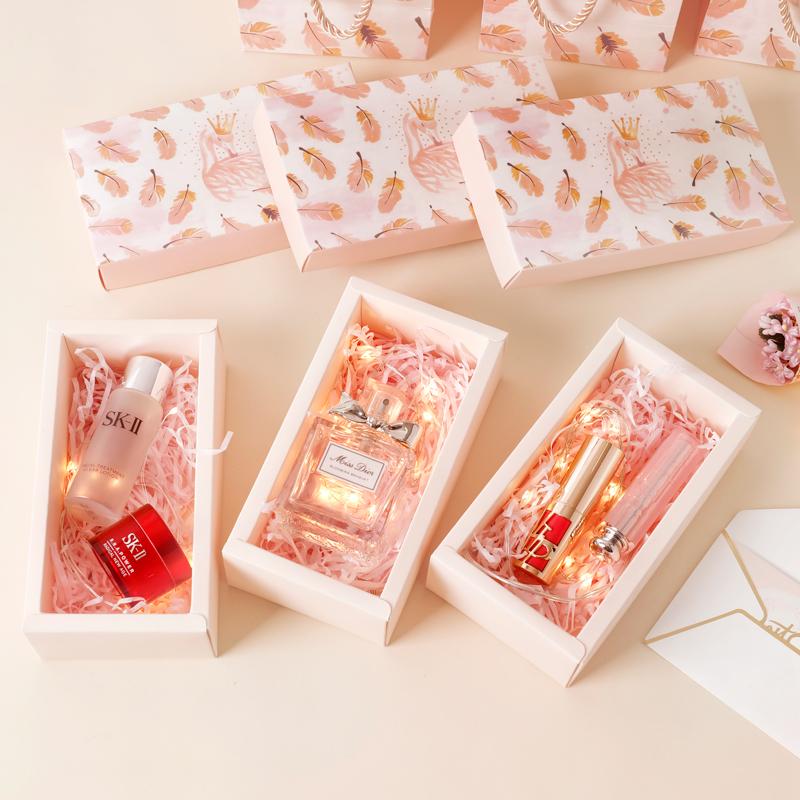 情人节ins礼盒包装盒伴手礼韩版精美 简约礼物盒口红生日小礼品盒