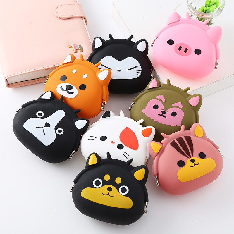 Silicone wallet cartoon coin bag childrens wallet headset Bag Mini student pocket cute hand bag