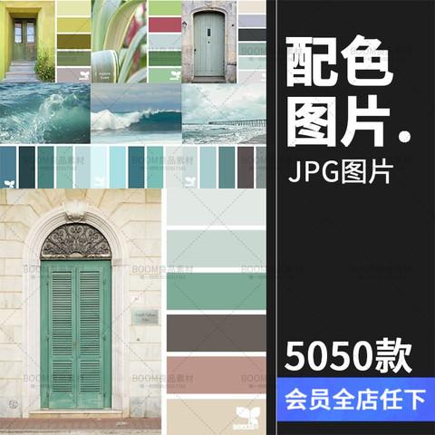 PS色彩搭配配色排版软装概念配饰室内设计参考图片色卡素材 128y