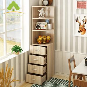 现代多功能转角柜置物架落地储物柜子简约客厅墙角柜三角酒柜边柜