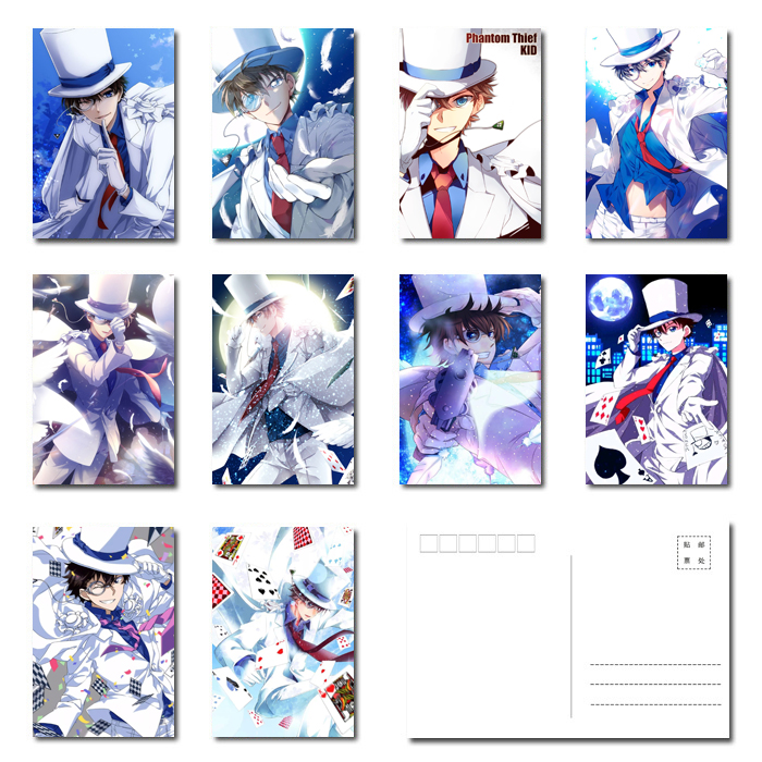 Magic quick fight outlaw Kidd Postcard parcel post / parcel post Kidd postcard / Detective Conan Kidd around