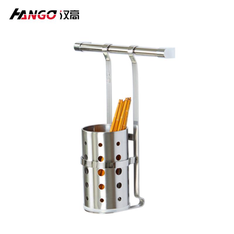 漢高廚房SUS304不鏽鋼筷子筒筷子杯架 收納架置物架加厚扁鋼壁掛