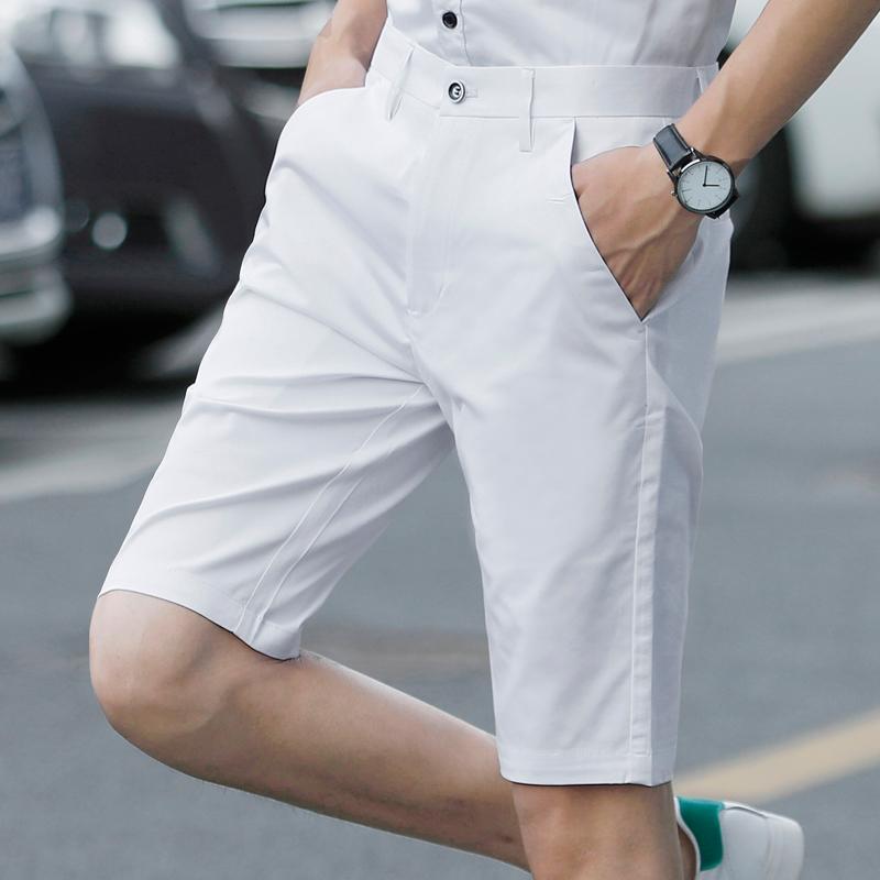 男士休闲短裤男英伦西裤时尚潮流五分裤子夏季新款5分裤潮牌半裤