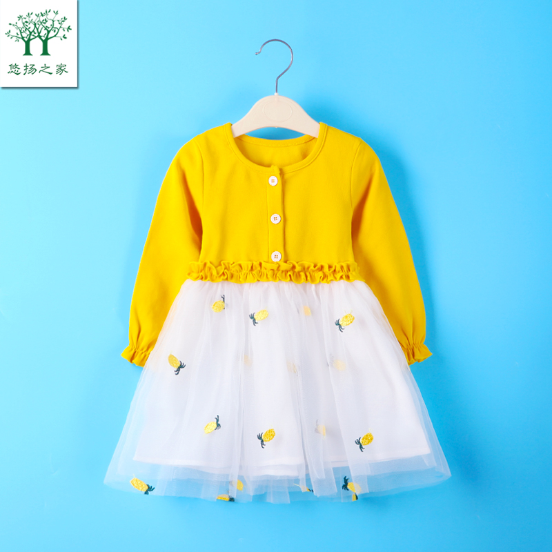 2020 new baby girl spring dress 1-6 year old children's dress spring girl Princess Dress spring